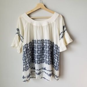 Anthropologie Hero & Leander Cotton Silk Blouse M